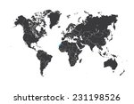a map of the world with a... | Shutterstock .eps vector #231198526