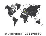 a map of the world with a... | Shutterstock .eps vector #231198550