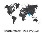 a map of the world with a... | Shutterstock .eps vector #231199060