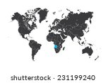 a map of the world with a... | Shutterstock .eps vector #231199240