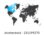 a map of the world with a... | Shutterstock .eps vector #231199270