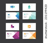 vector abstract business cards. ... | Shutterstock .eps vector #231199420