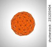 orange and black geometric shape | Shutterstock . vector #231203404