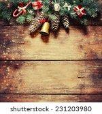 christmas fir tree with... | Shutterstock . vector #231203980