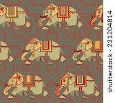decorative retro colored... | Shutterstock .eps vector #231204814