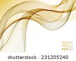 abstract yellow wave