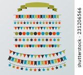 set of buntings and garlands  | Shutterstock .eps vector #231206566