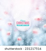 winter background  merry... | Shutterstock .eps vector #231217516