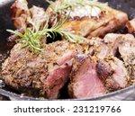 Rustic Roast Lamb With Pan...