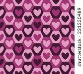 hearts seamless vector pattern... | Shutterstock .eps vector #231220489