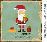 vintage christmas card with... | Shutterstock .eps vector #231221530