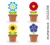 set of four flowers in... | Shutterstock .eps vector #23122258