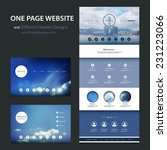 one page website template and... | Shutterstock .eps vector #231223066