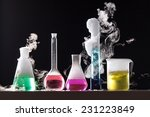 Glass In A Chemical Laboratory...
