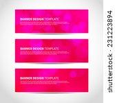 set of trendy pink vector... | Shutterstock .eps vector #231223894