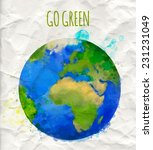 vector illustration of earth... | Shutterstock .eps vector #231231049