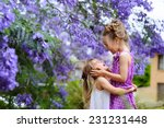 two little sister love and have ... | Shutterstock . vector #231231448