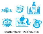 blue and white vector milk...