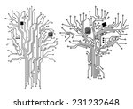 computer tree with chip and... | Shutterstock .eps vector #231232648