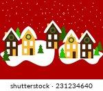 christmas evening  | Shutterstock .eps vector #231234640