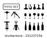 wine set on a white background | Shutterstock .eps vector #231237256
