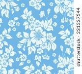 vector flower seamless pattern... | Shutterstock .eps vector #231237544
