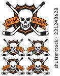 vector hockey emblem with 5... | Shutterstock .eps vector #231243628
