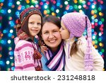 happy family mother and two... | Shutterstock . vector #231248818