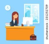 business concept   woman... | Shutterstock .eps vector #231252709