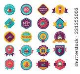 travel badge banner design flat ... | Shutterstock .eps vector #231253003