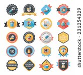 kitchenware badge flat banner... | Shutterstock .eps vector #231254329