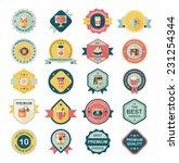 coffee badge design flat... | Shutterstock .eps vector #231254344