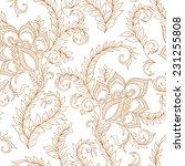 henna mehendytattoo doodles... | Shutterstock .eps vector #231255808