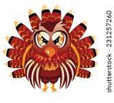 cute cartoon thanksgiving... | Shutterstock .eps vector #231257260