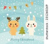 merry christmas card | Shutterstock .eps vector #231260269