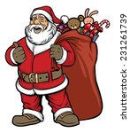 santa claus bring a bag full of ... | Shutterstock .eps vector #231261739