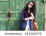 pretty young fashion smiling... | Shutterstock . vector #231262273