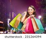 happiness  consumerism  sale... | Shutterstock . vector #231264394