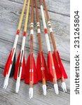 wooden archery homemade arrows... | Shutterstock . vector #231265804
