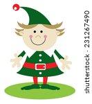 girl christmas elf dressed in... | Shutterstock .eps vector #231267490