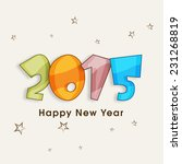 happy new year celebration... | Shutterstock .eps vector #231268819