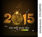 happy new year 2015... | Shutterstock .eps vector #231268900