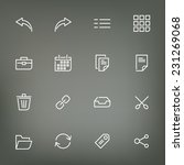 white thin line icons set for...