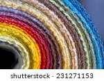 rolls of colorful fabric... | Shutterstock . vector #231271153