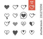 heart icons. vector... | Shutterstock .eps vector #231273550