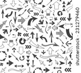seamless  background of arrows... | Shutterstock . vector #231279460