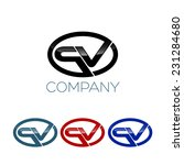 p and v company linked letter... | Shutterstock .eps vector #231284680