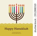 Jewish Holiday. Hanukkah Meora...