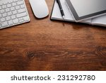 close up clean open notebook... | Shutterstock . vector #231292780