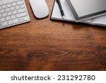 close up clean open notebook... | Shutterstock . vector #231292780
